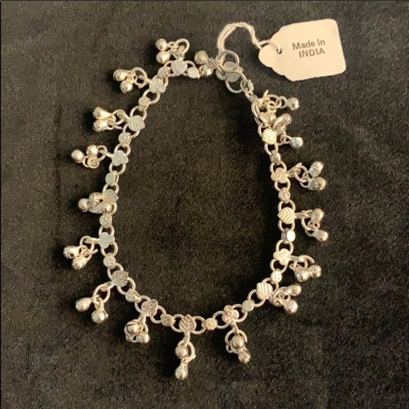 Anklet and earrings